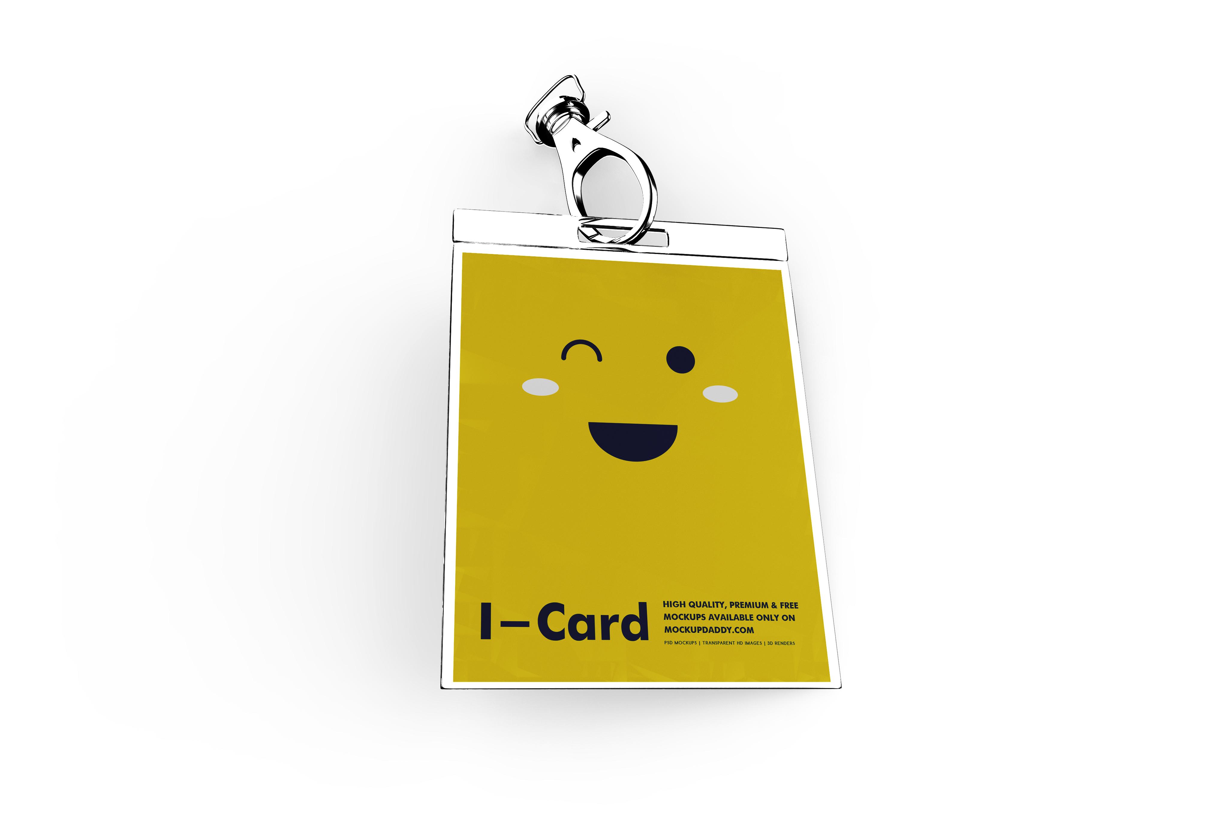 Id Card Mockup Free - Mockup Daddy