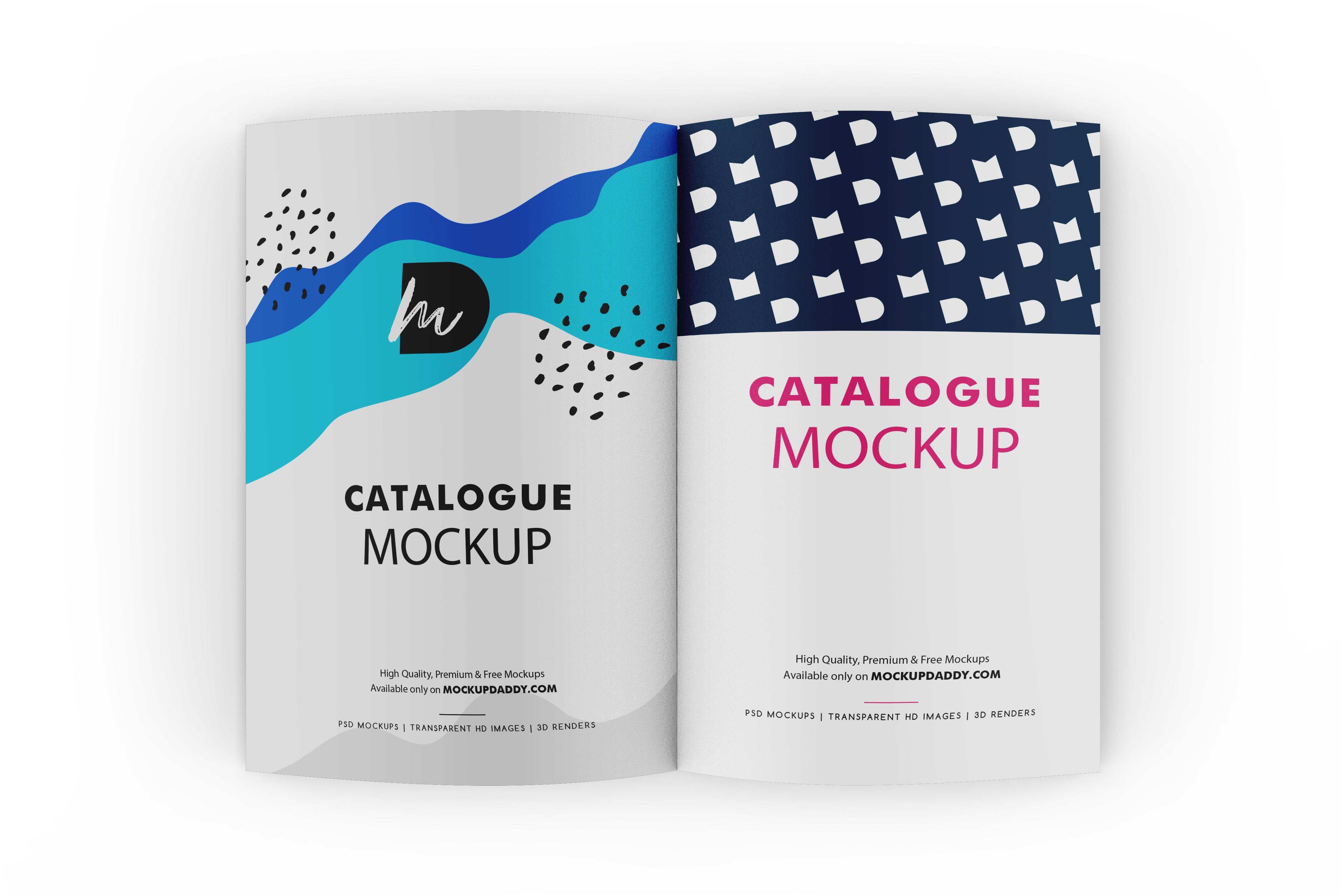 Catalogue Psd Mockup Free Download - Premium Branding Mockups