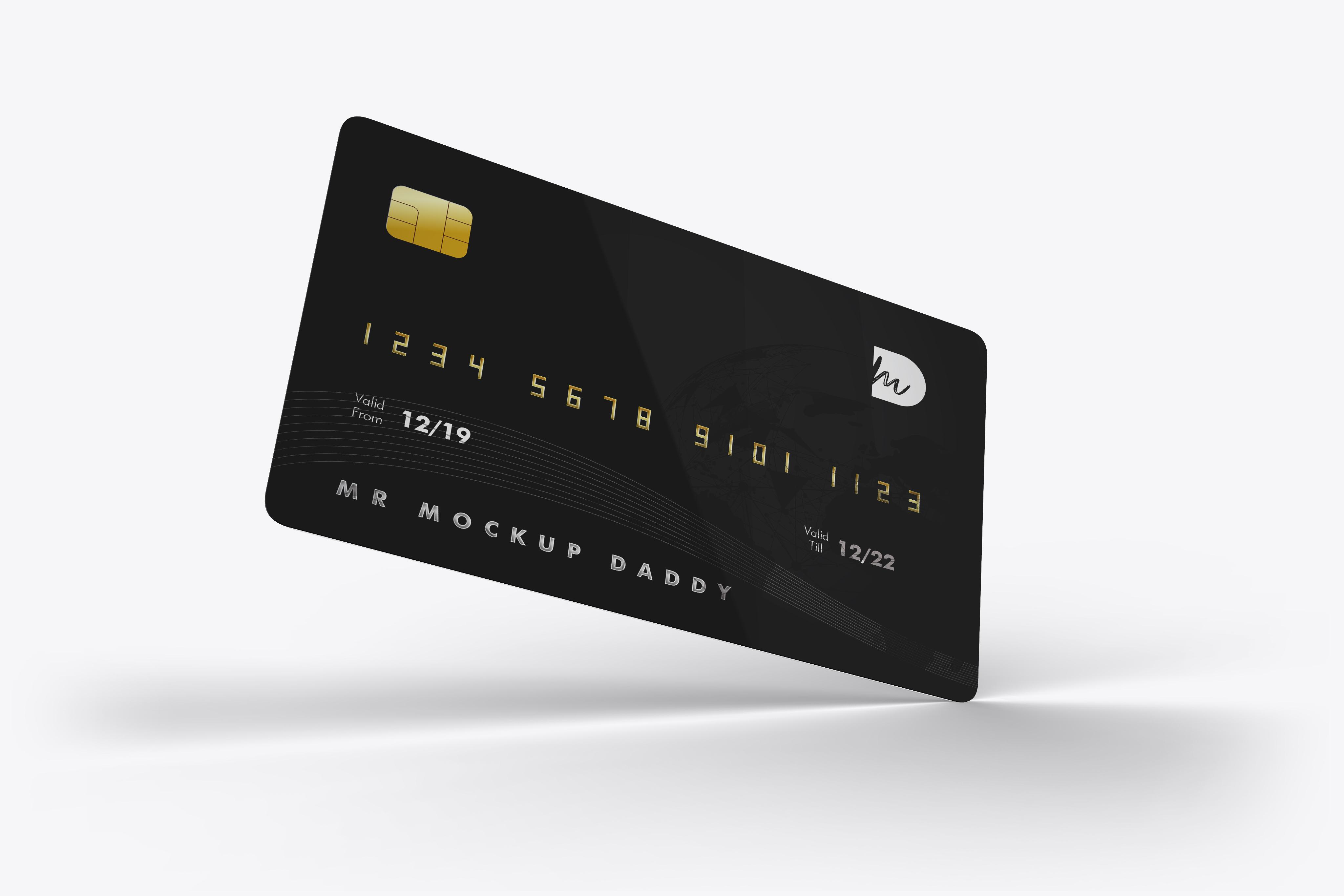Free Credit Card Mockup Mockup Daddy