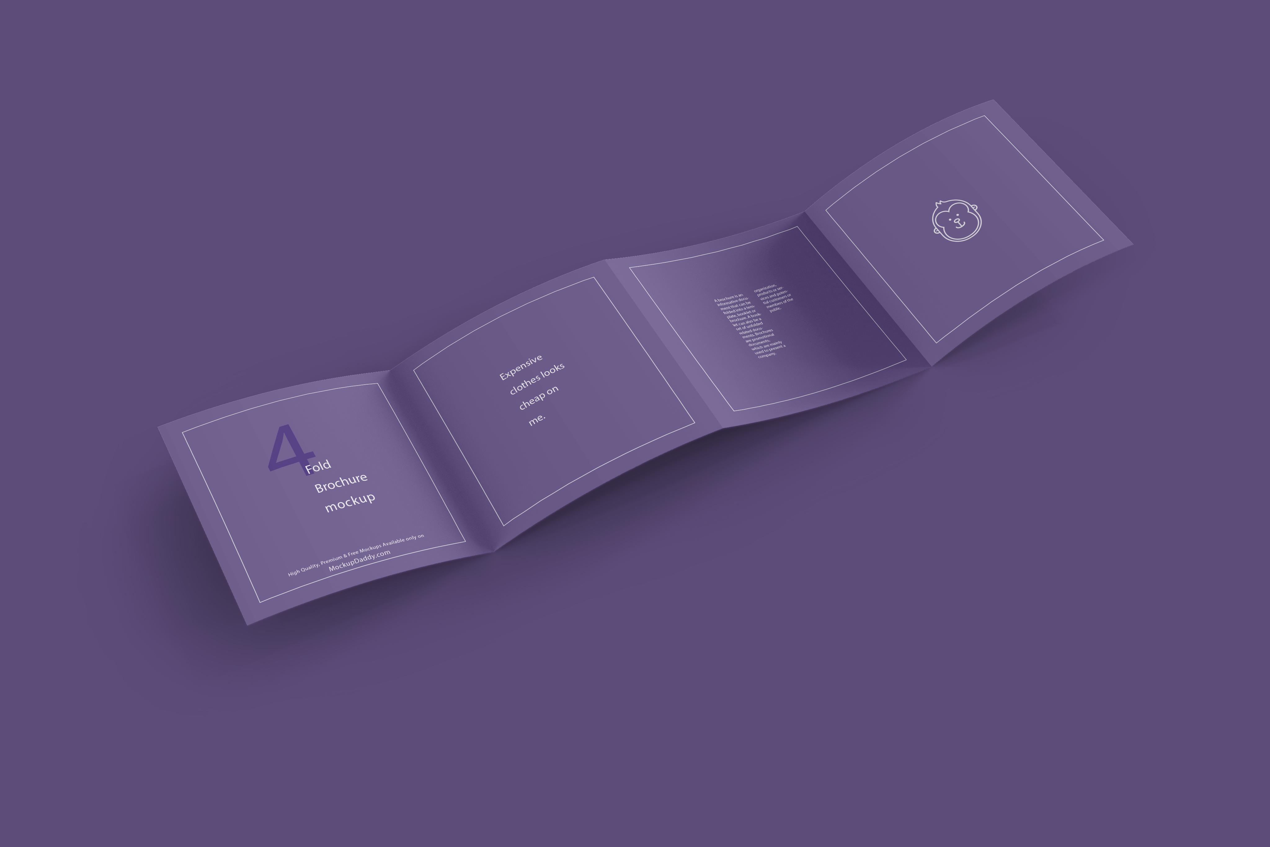 4 Fold Brochure Mockup - Mockup Daddy