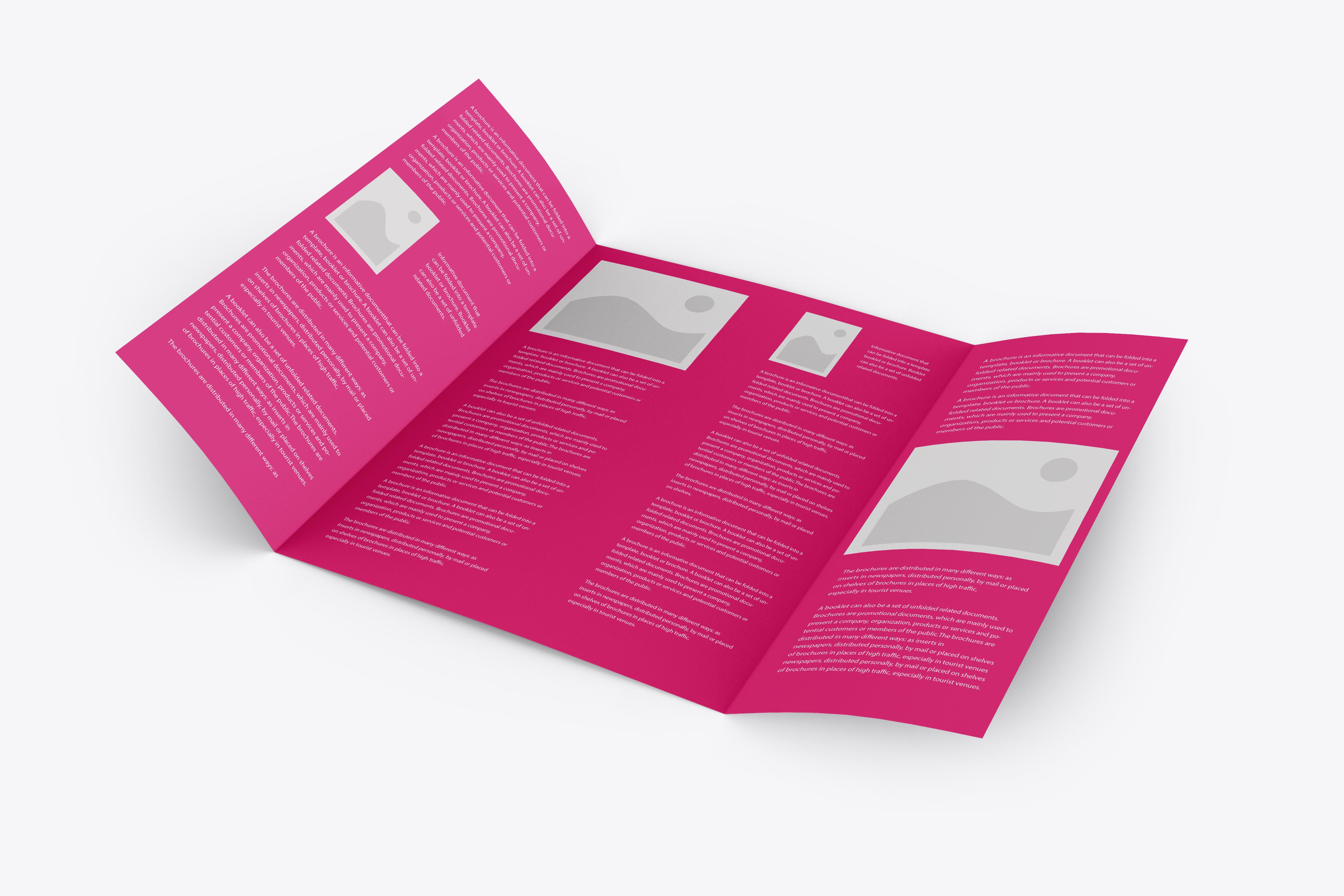 Gate Fold Brochure Mockup - Mockup Daddy