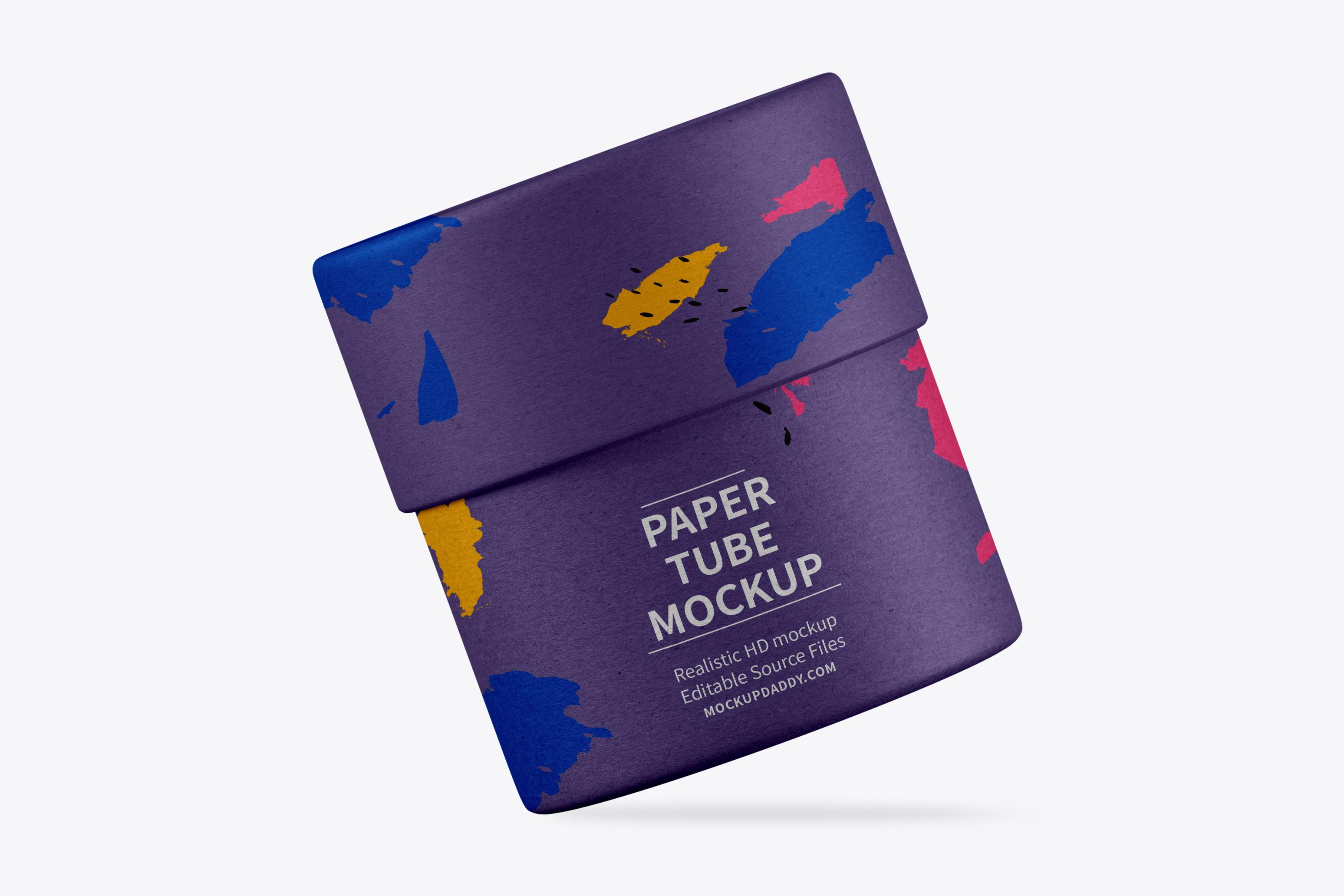 Small Corrugated Paper Tube Mockup - Premium Branding Mockups