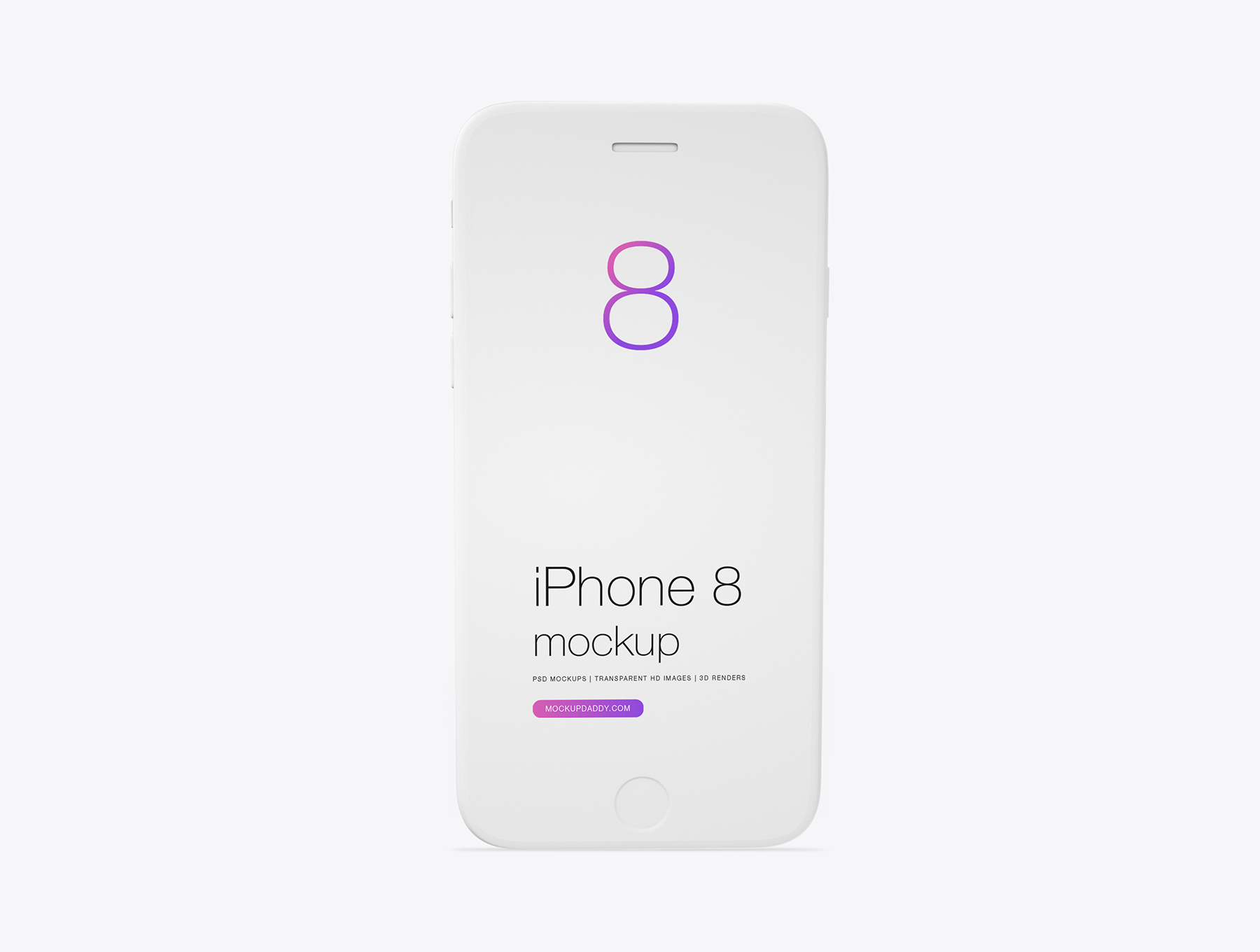 Iphone 8 Clay Mockup Mockup Daddy