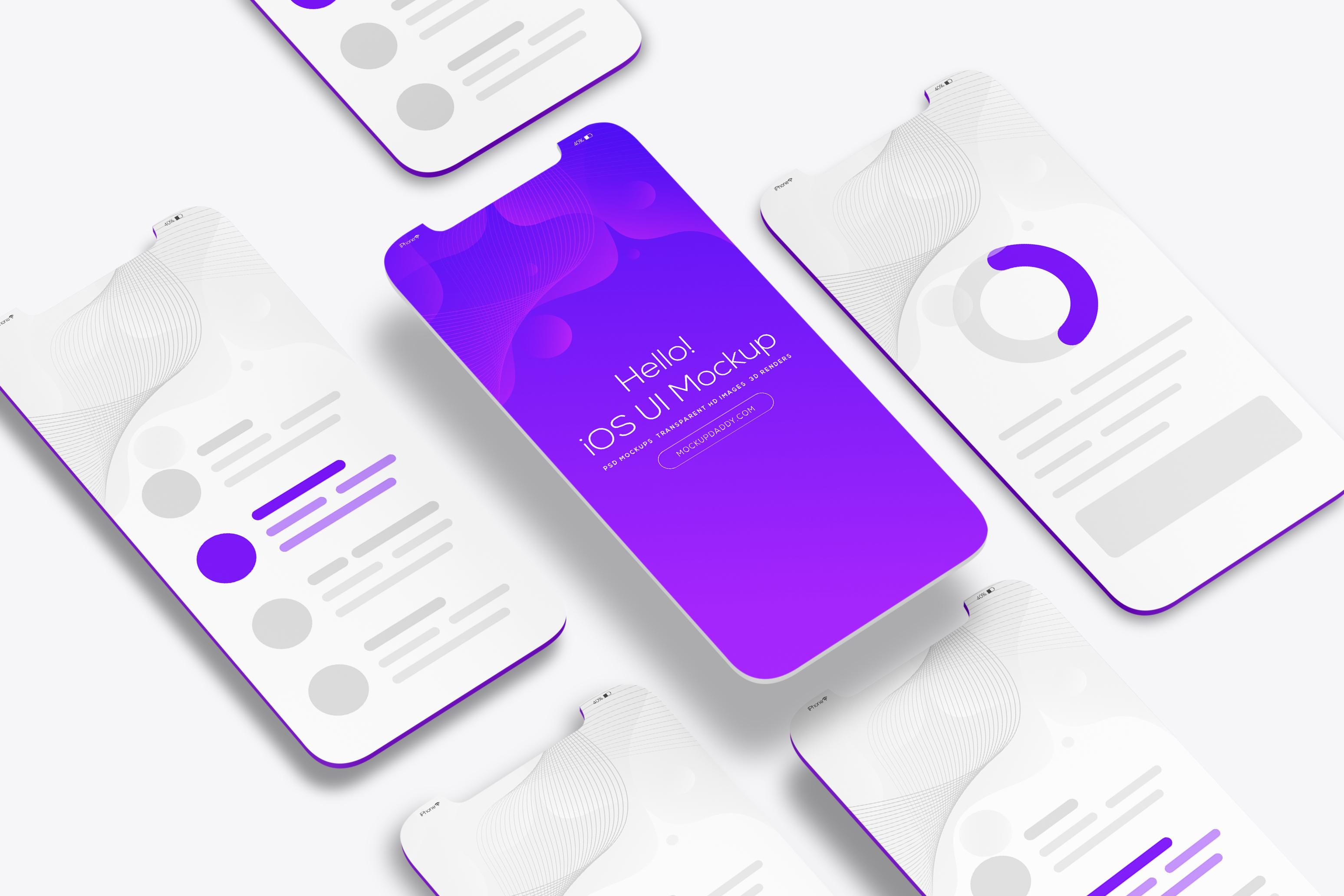Ui Isometric Perspective Mockup Ui Mockup App Mockups