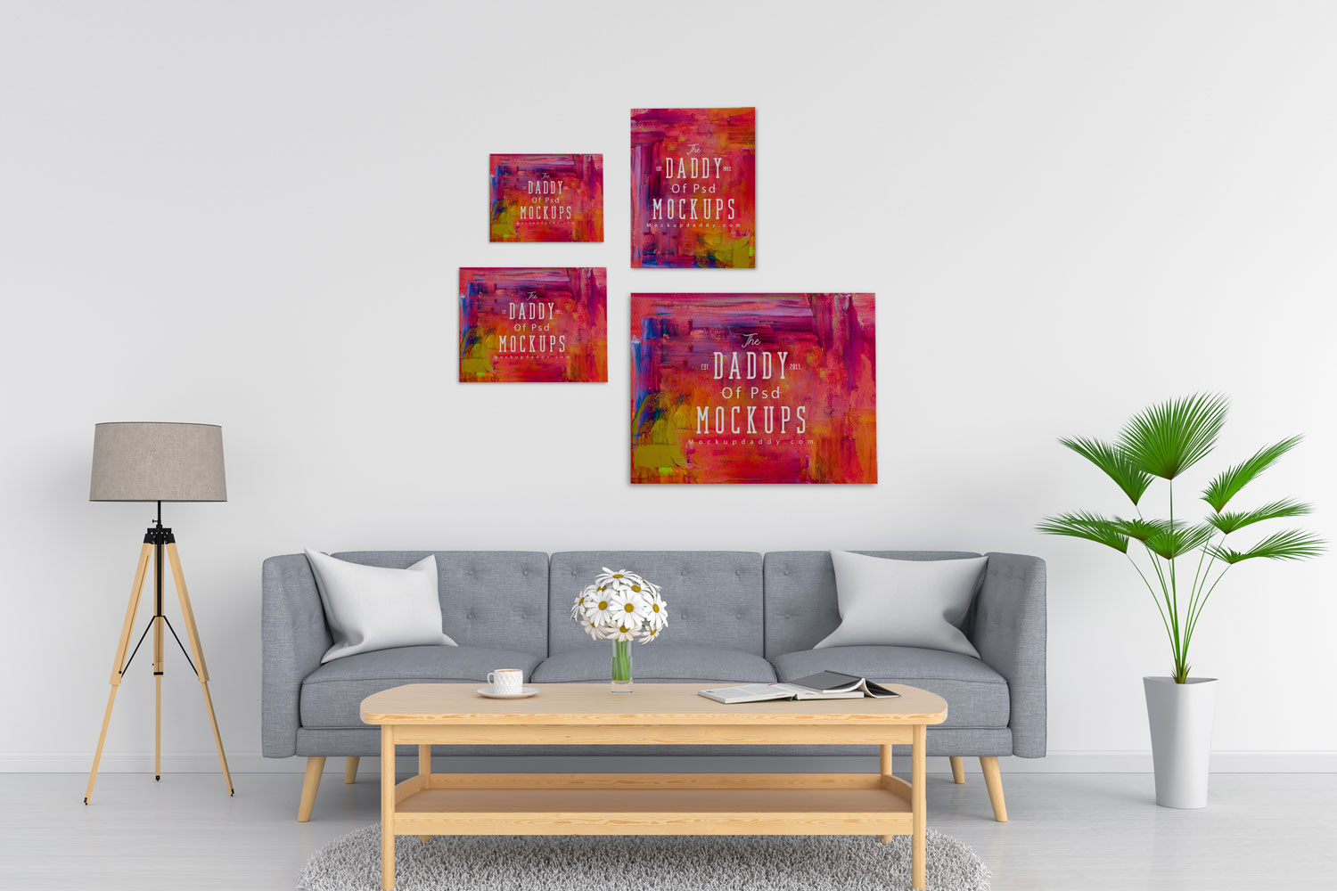 Canvas Wall Painting Mockup Mockup Daddy