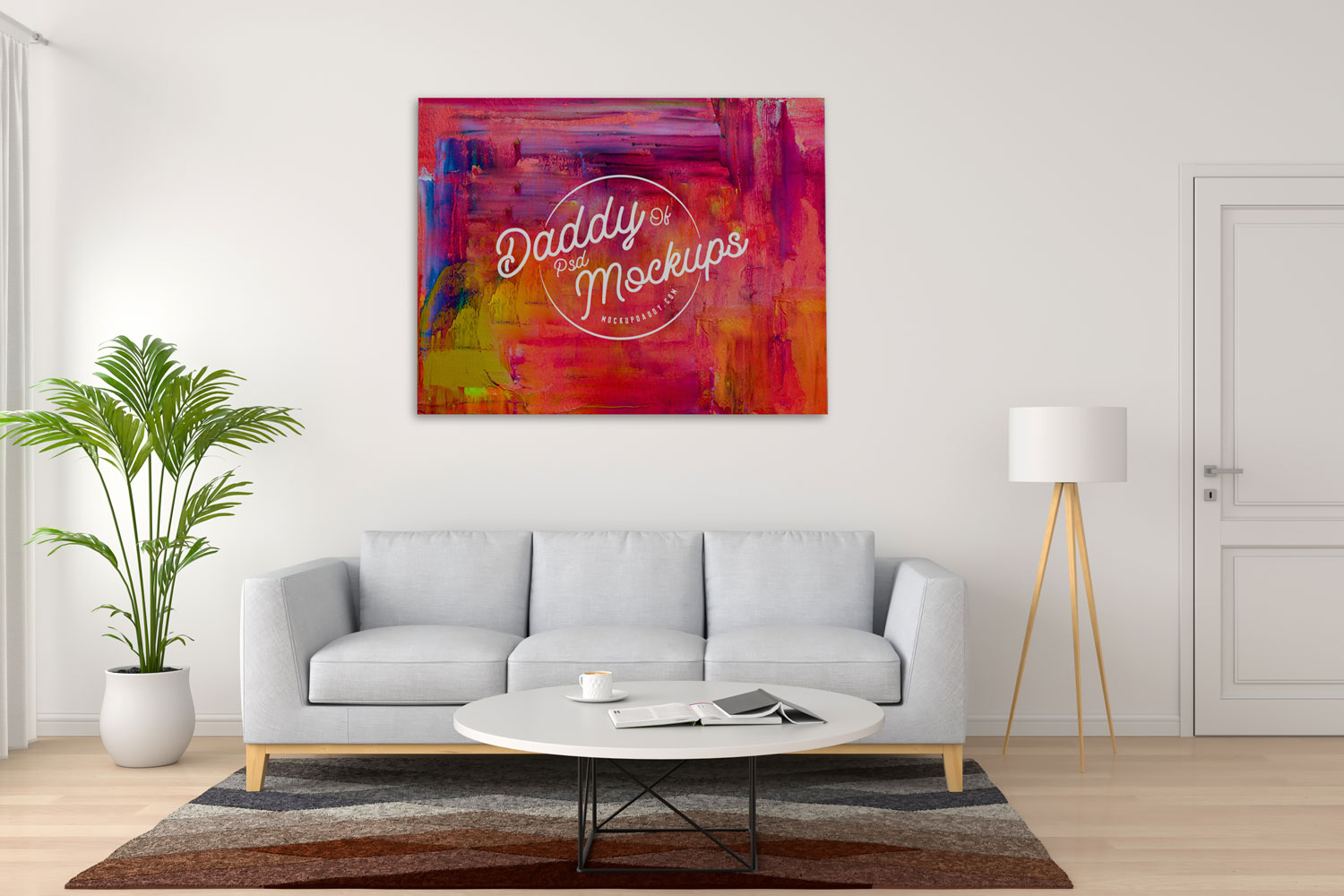 Painting Canvas Mock Up Mockup Daddy
