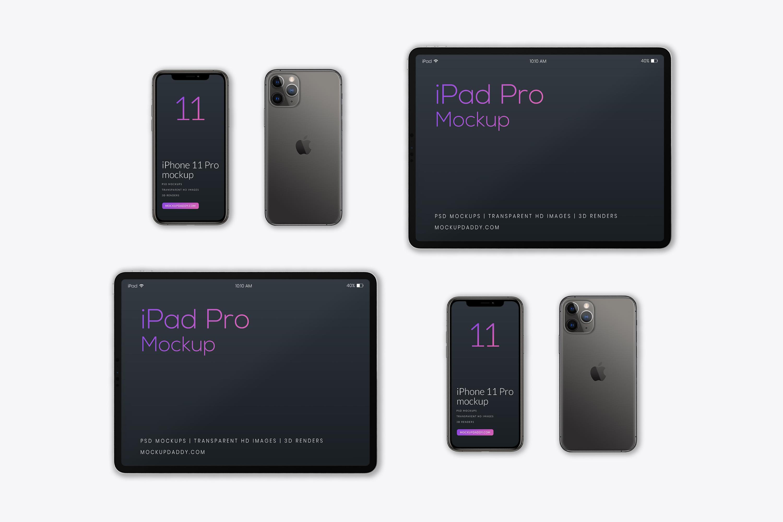 Free Ipad Pro 2019 And Iphone 11 Mockup Mockup Daddy