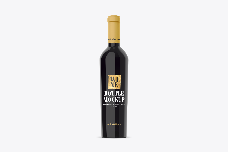 Premium Wine Bottle Free Psd Mockup Mockup Daddy
